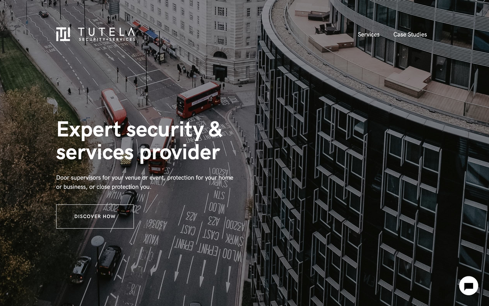 Tutela Security Website from London